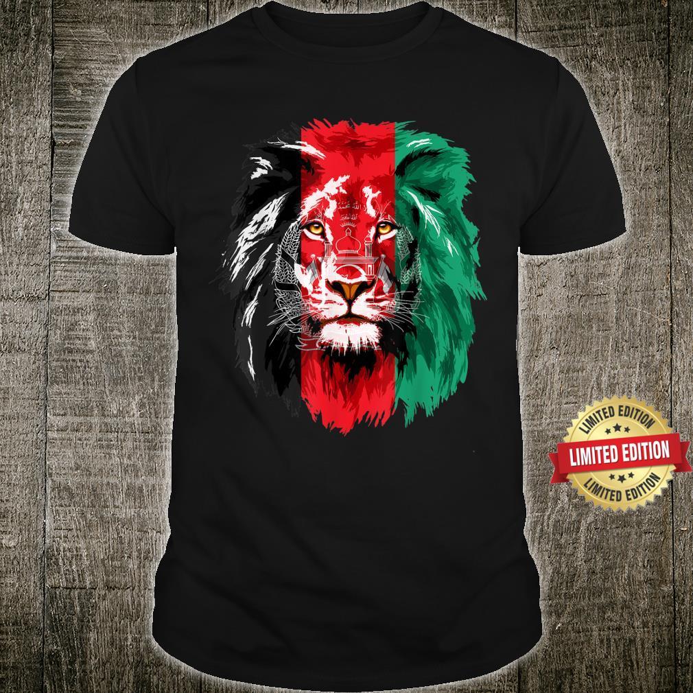Afghanistan Flag Lion Free Afghanistan Shirt
