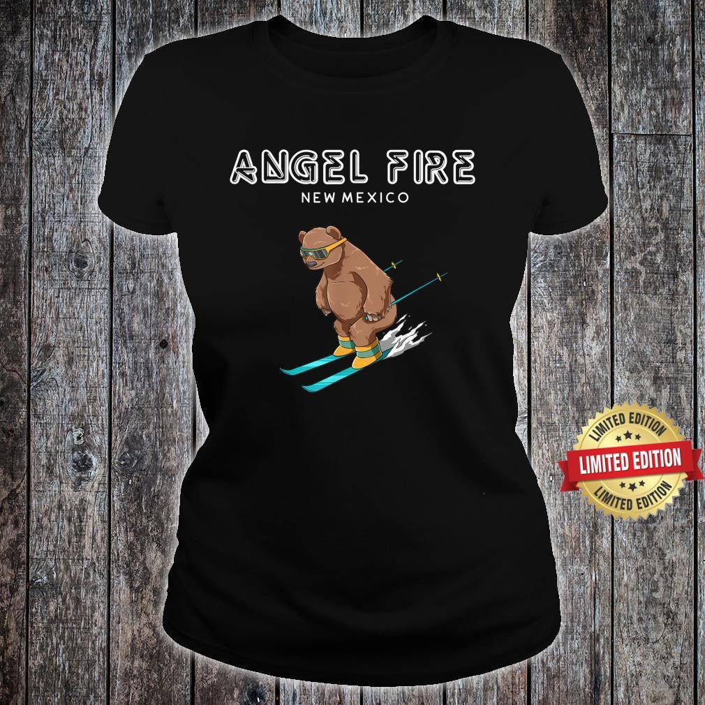 Angel Fire New Mexico Ski Grizzly Bear Shirt ladies tee
