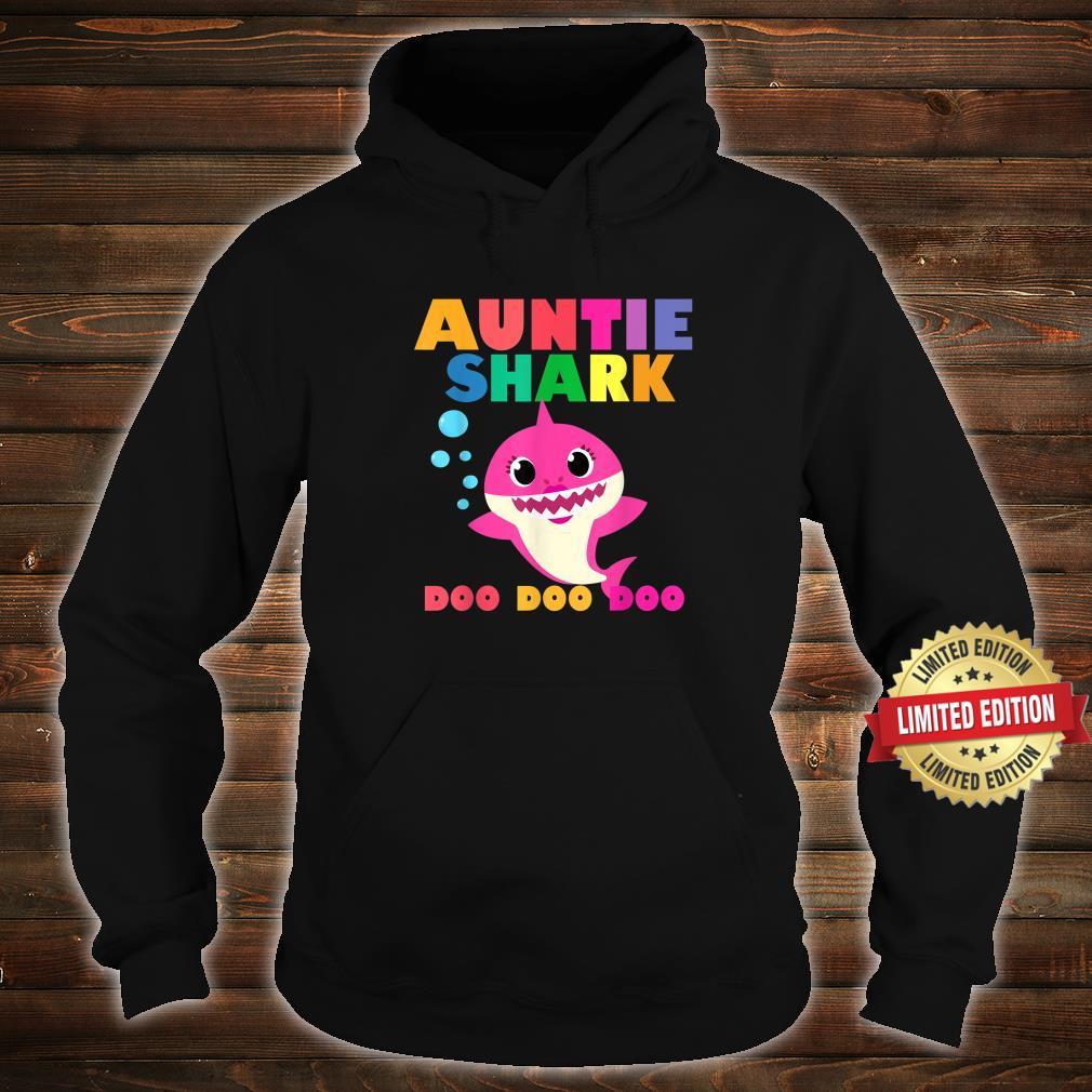 Auntie Shark Doo Doo Baby Mommy Daddy Shirt hoodie
