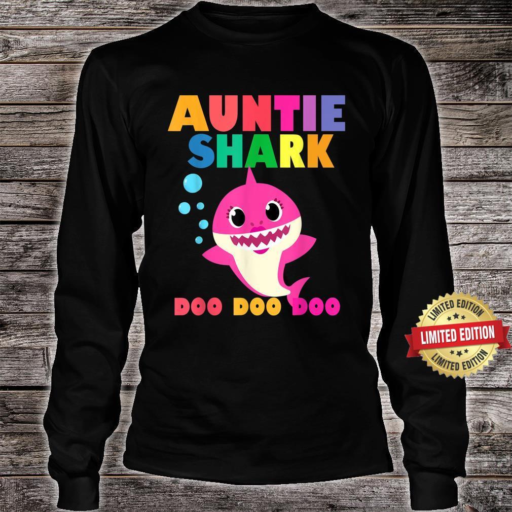 Auntie Shark Doo Doo Baby Mommy Daddy Shirt long sleeved
