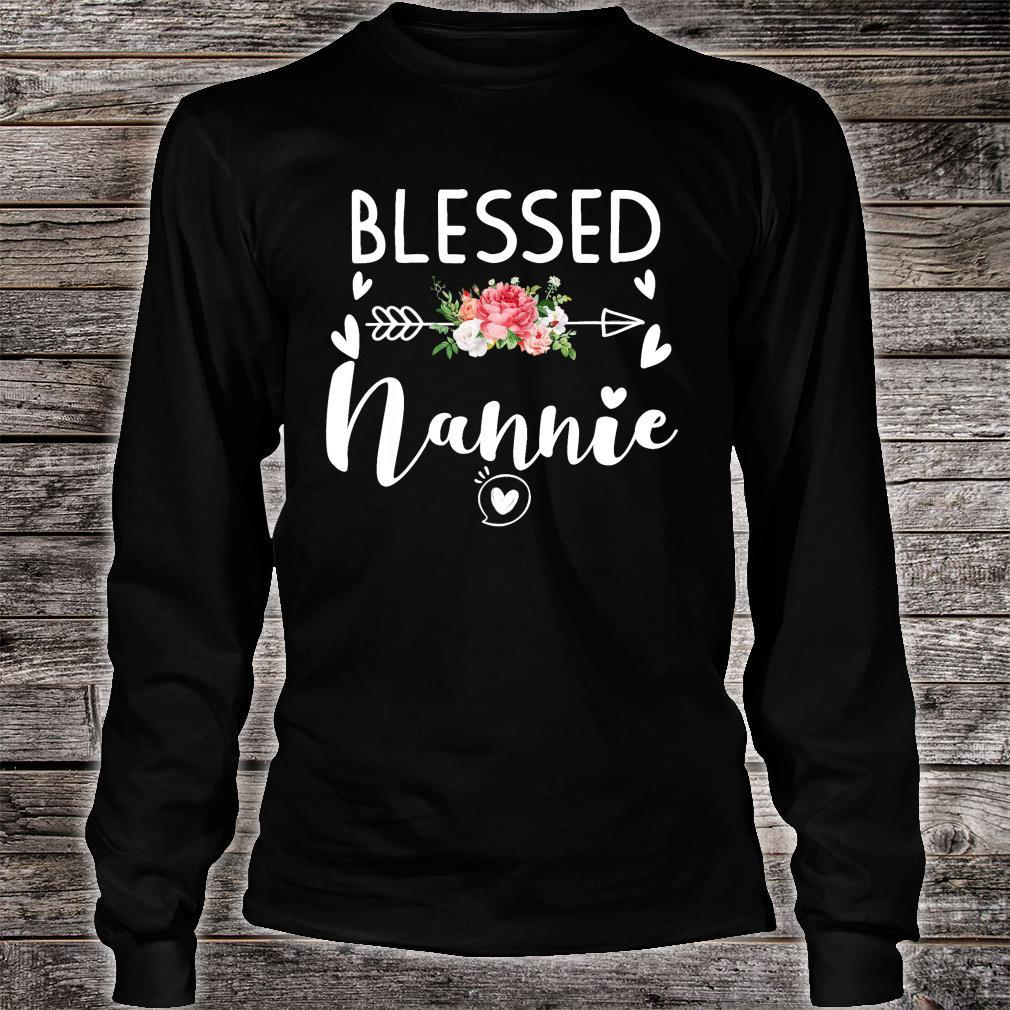 Blessed Nannie Floral Gift For Nannie Shirt long sleeved
