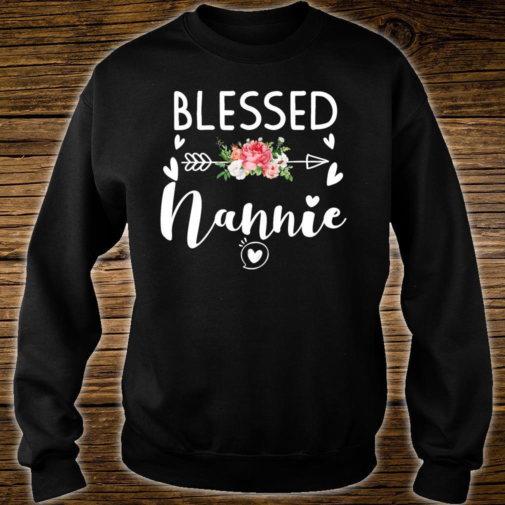 Blessed Nannie Floral Gift For Nannie Shirt sweater