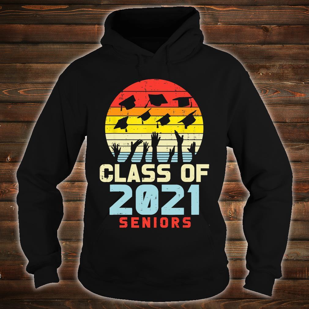 Class Of 2021 Seniors Retro Graduation College Shirt hoodie