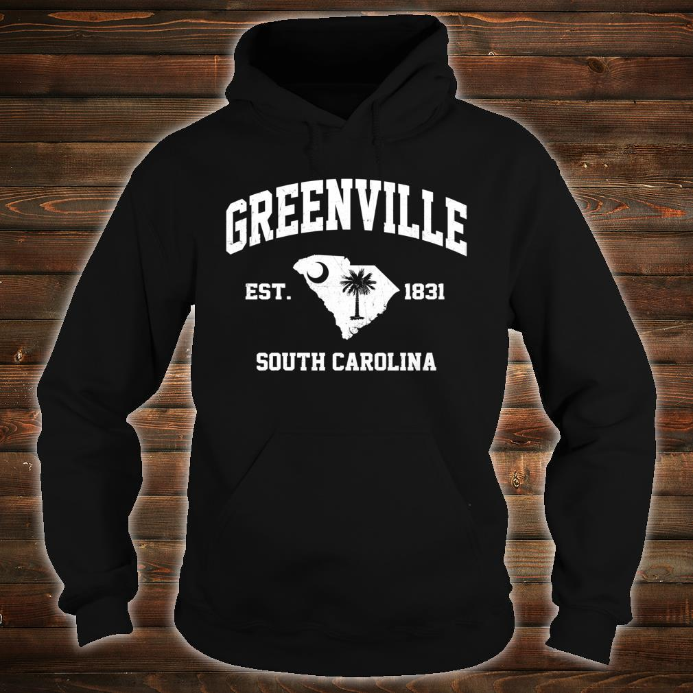 Greenville South Carolina SC vintage State Athletic style Shirt hoodie