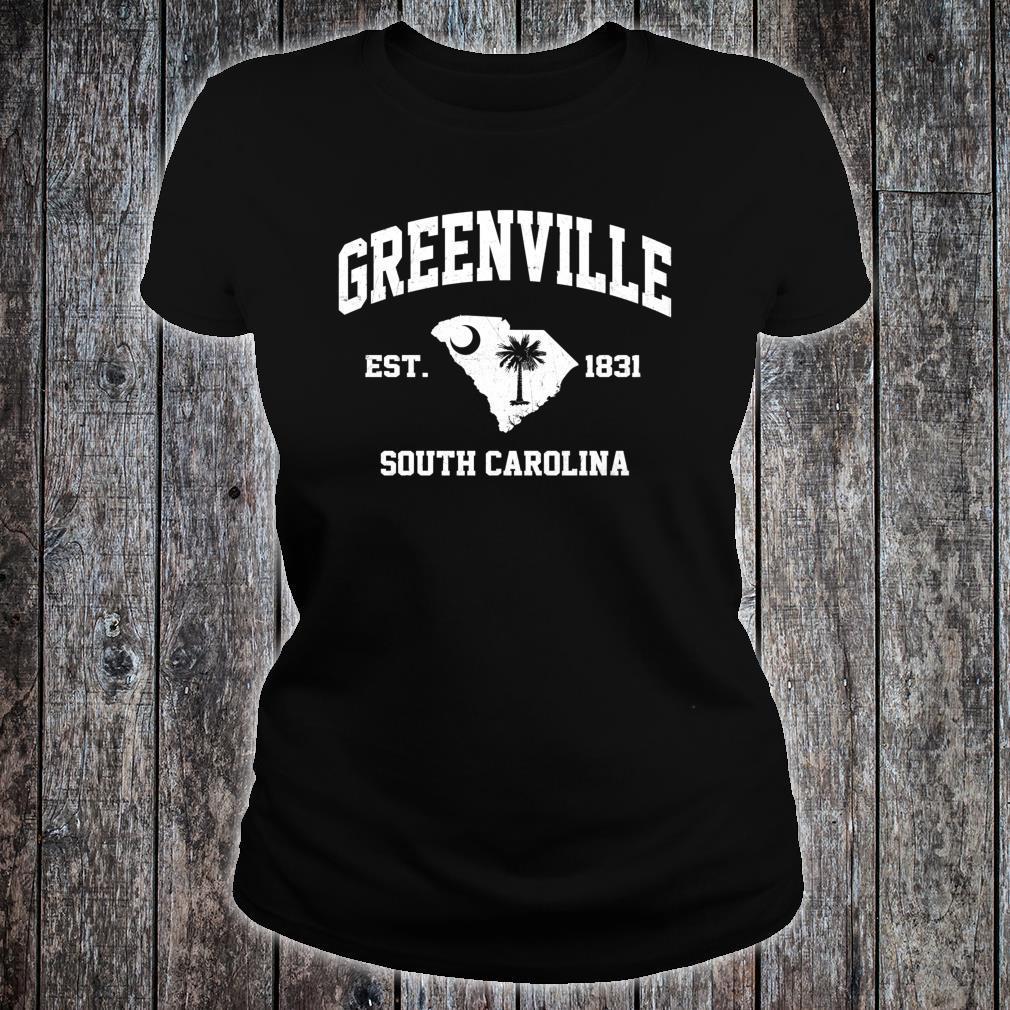 Greenville South Carolina SC vintage State Athletic style Shirt ladies tee