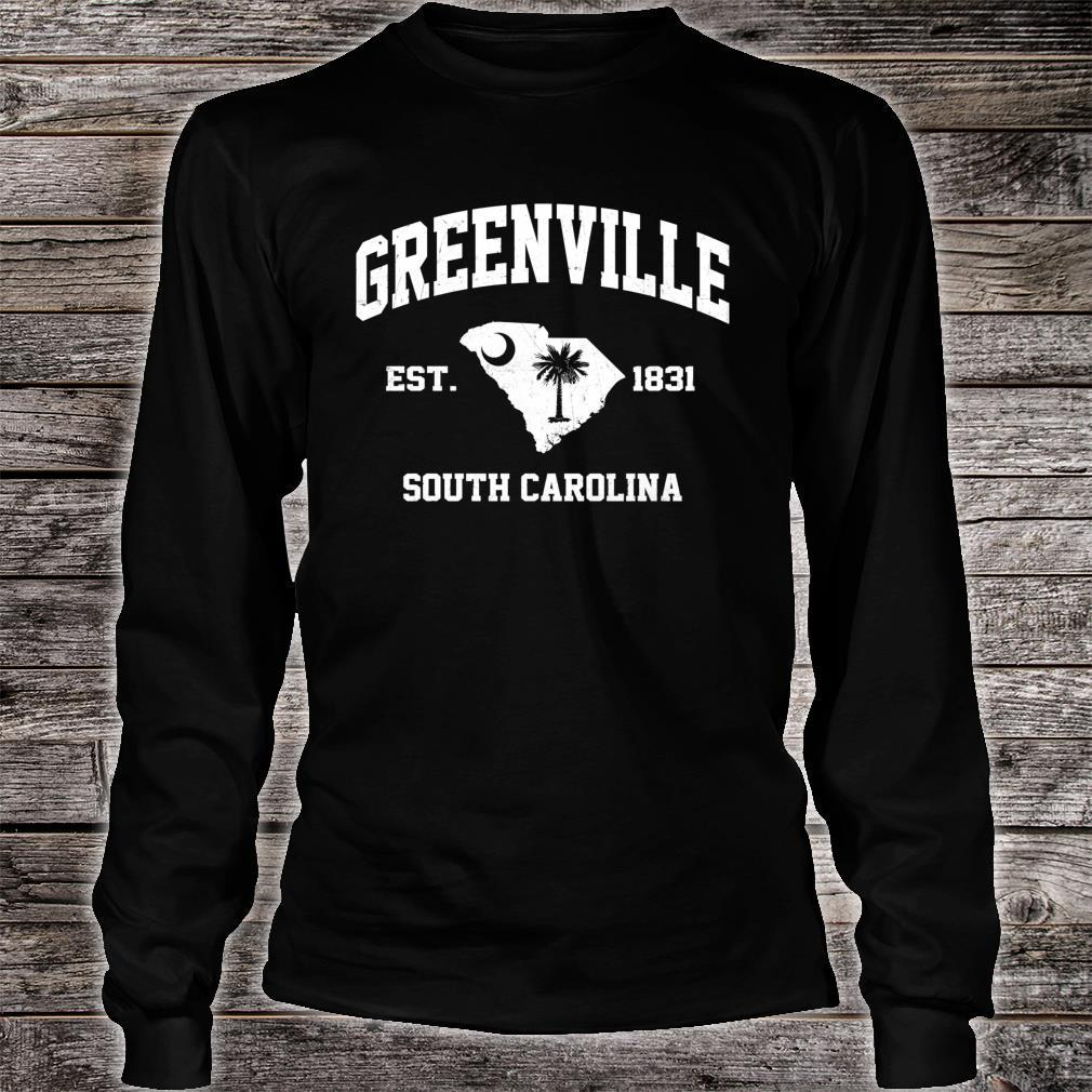 Greenville South Carolina SC vintage State Athletic style Shirt long sleeved