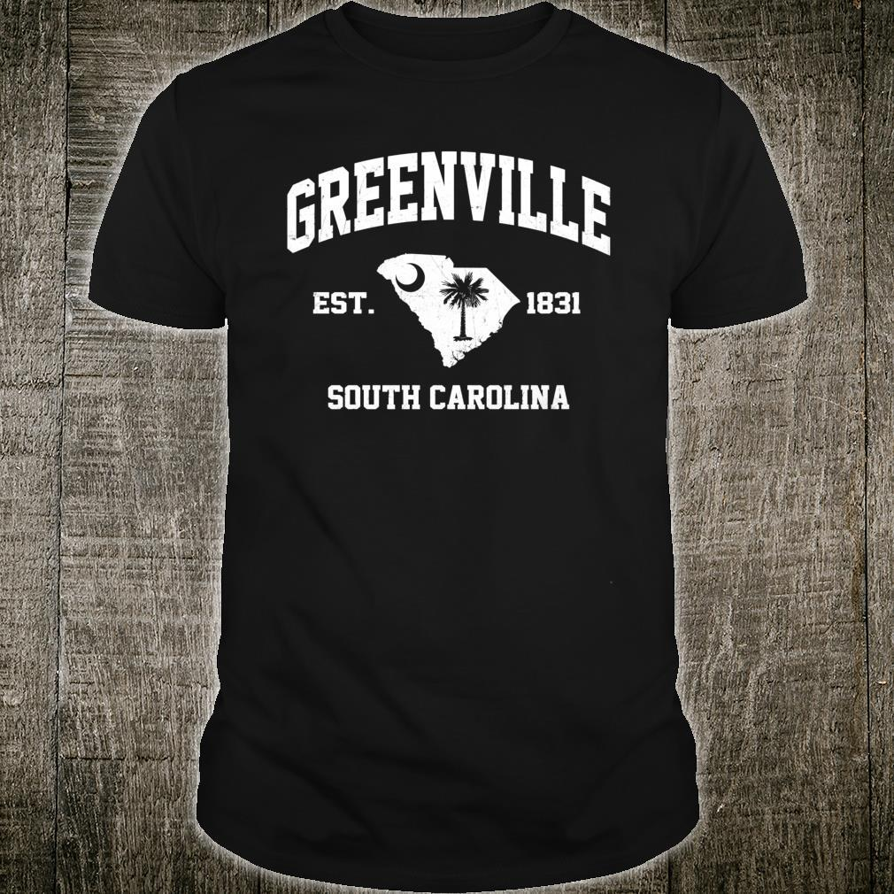Greenville South Carolina SC vintage State Athletic style Shirt