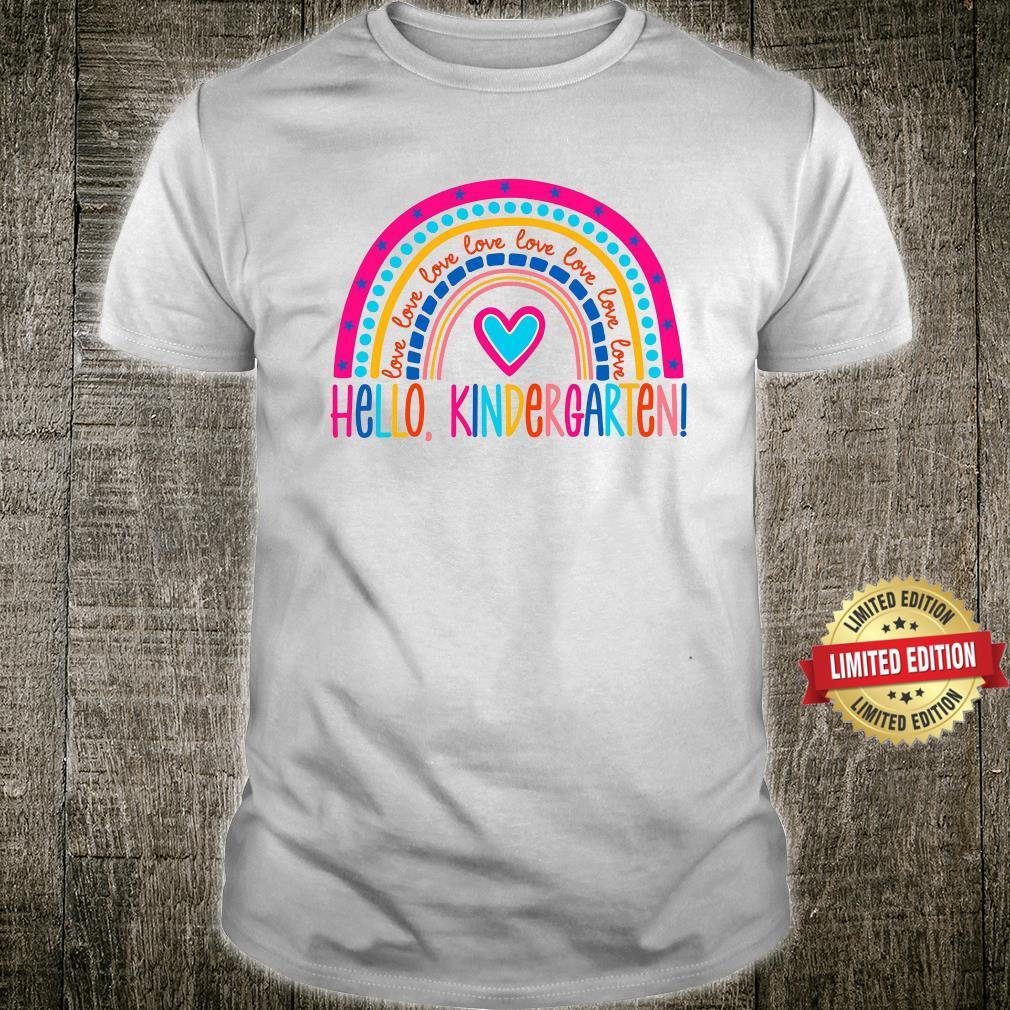 Hello Kindergarten Love Teach Shirt