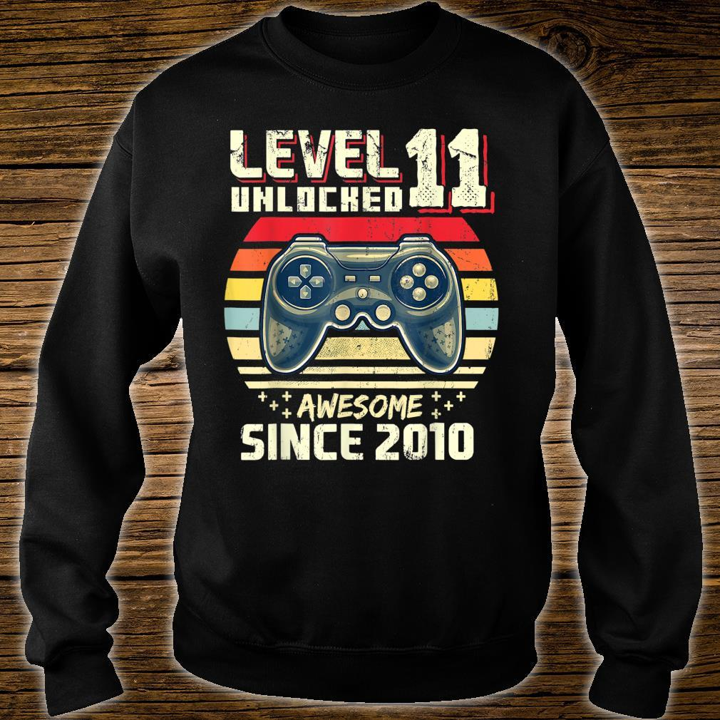 Level 11 Unlocked Awesome 2010 Video Game 11th Birthday Shirt sweater