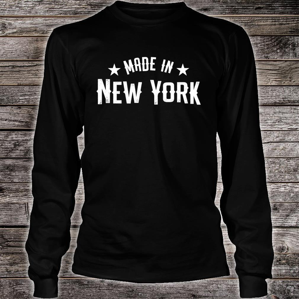 Made In New York NY City NYC New Yorker My Home State Pride Shirt long sleeved