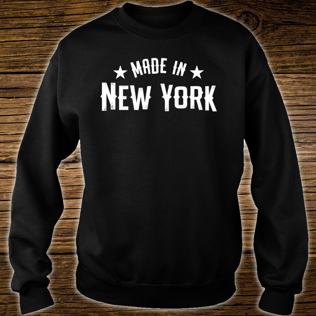 Made In New York NY City NYC New Yorker My Home State Pride Shirt sweater
