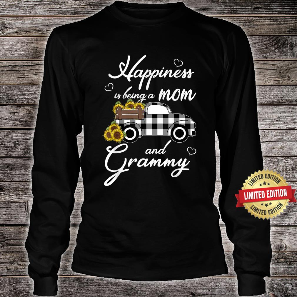 Sunflower Grandma Shirt Happiness is being a Mom and Grammy Shirt long sleeved