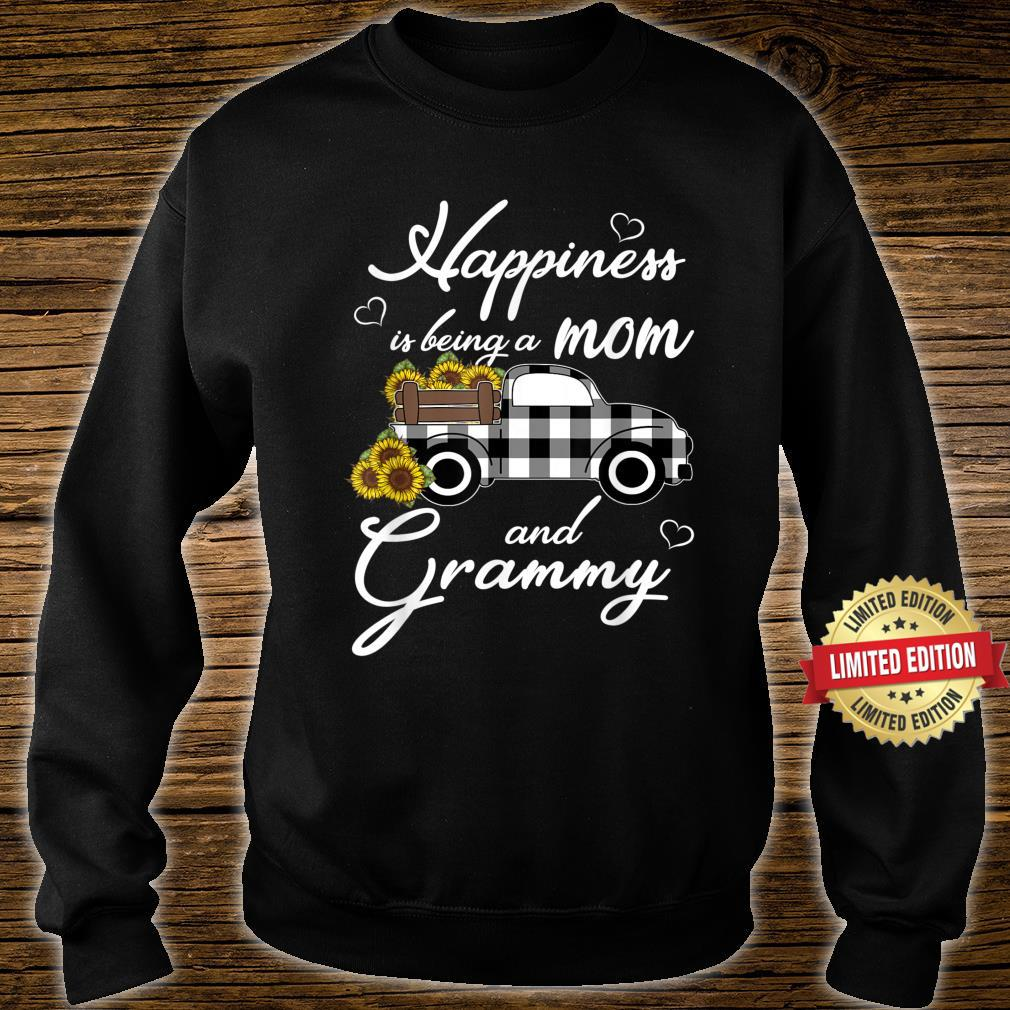 Sunflower Grandma Shirt Happiness is being a Mom and Grammy Shirt sweater