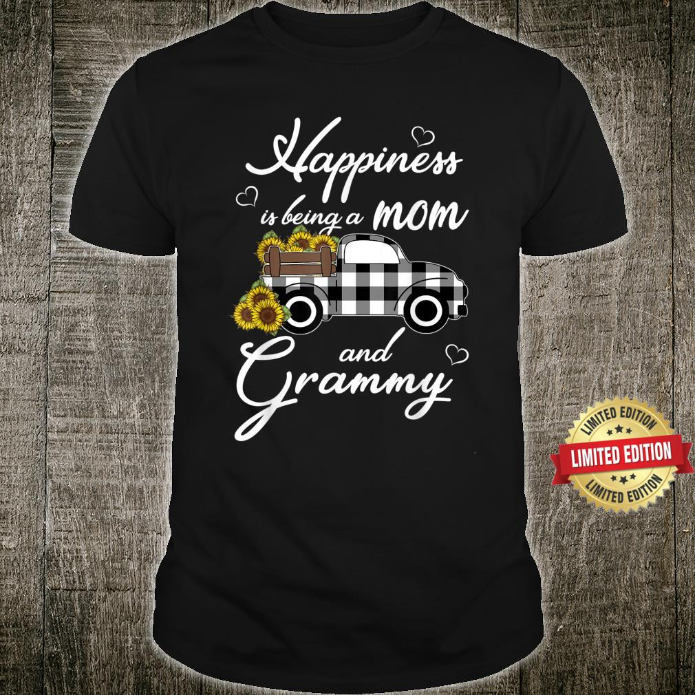 Sunflower Grandma Shirt Happiness is being a Mom and Grammy Shirt