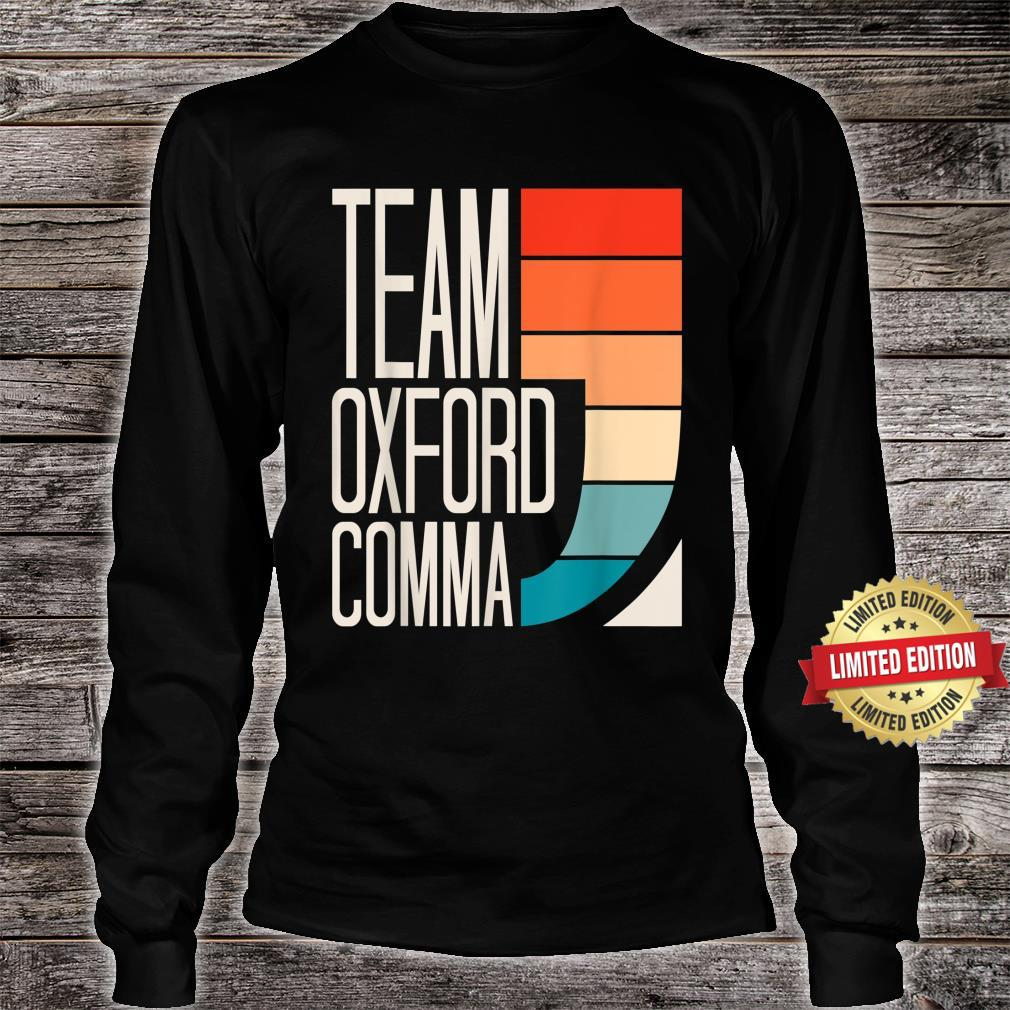 Team Oxford Comma Grammar Police English Teacher Grammarian Shirt long sleeved