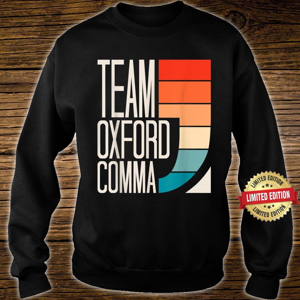 Team Oxford Comma Grammar Police English Teacher Grammarian Shirt sweater