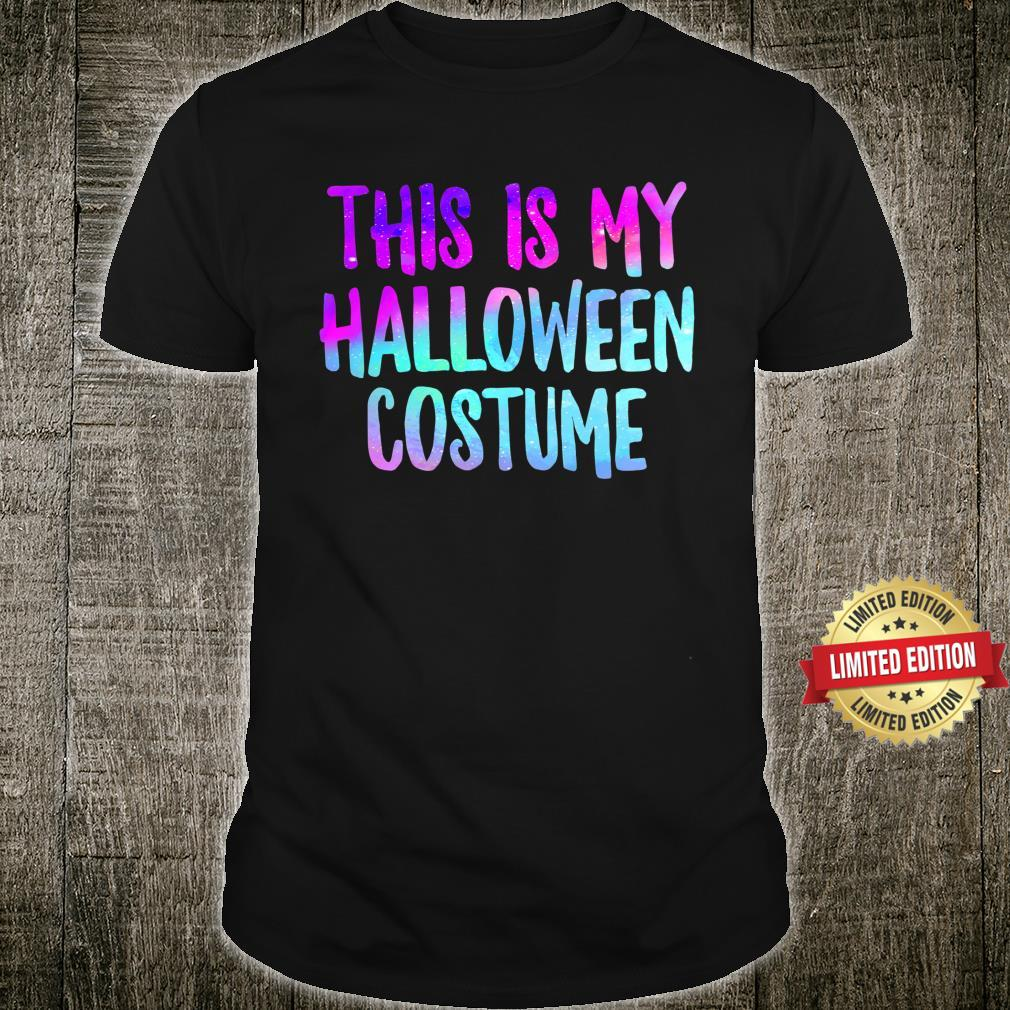This Is My Halloween Costume Fall Trick Or Treat Lazy Spooky Shirt