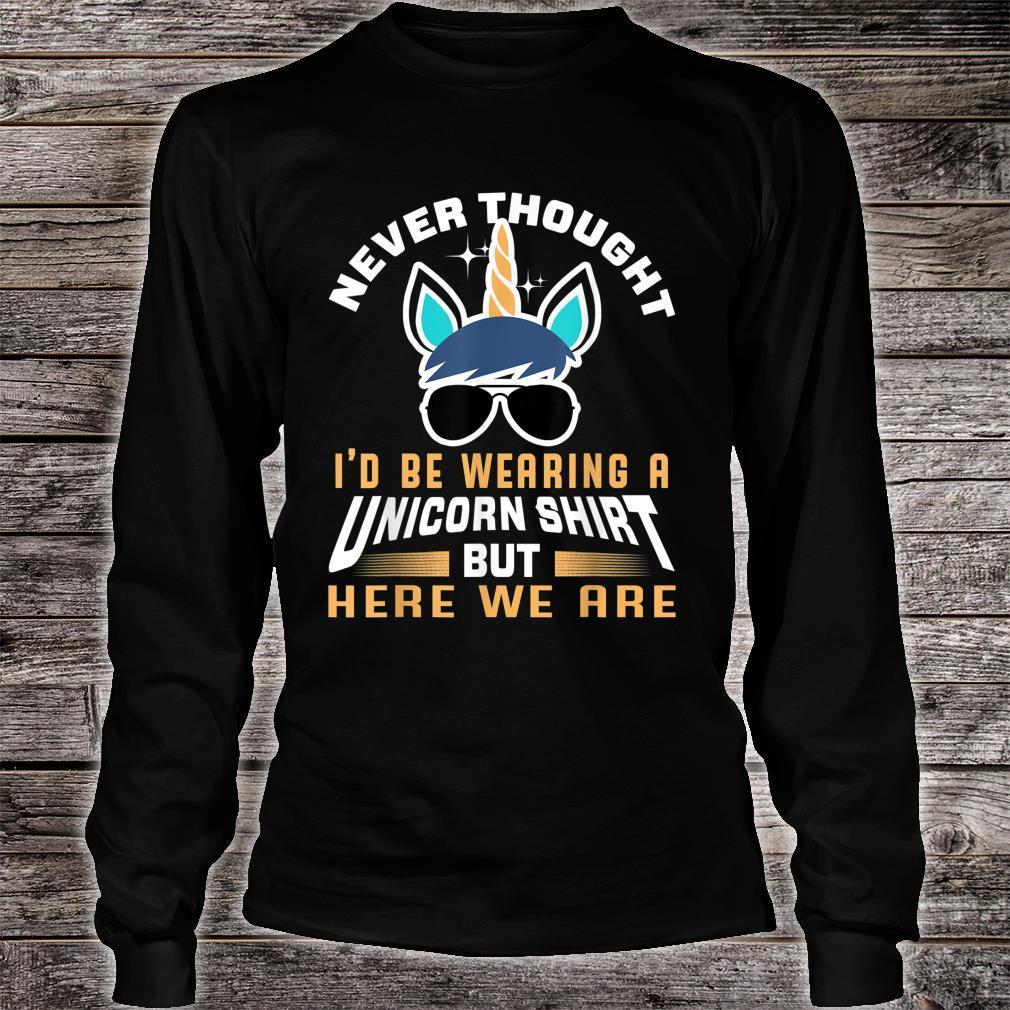 Unicorn Shirt For Papa Dad Grandpa Big Brother Shirt long sleeved