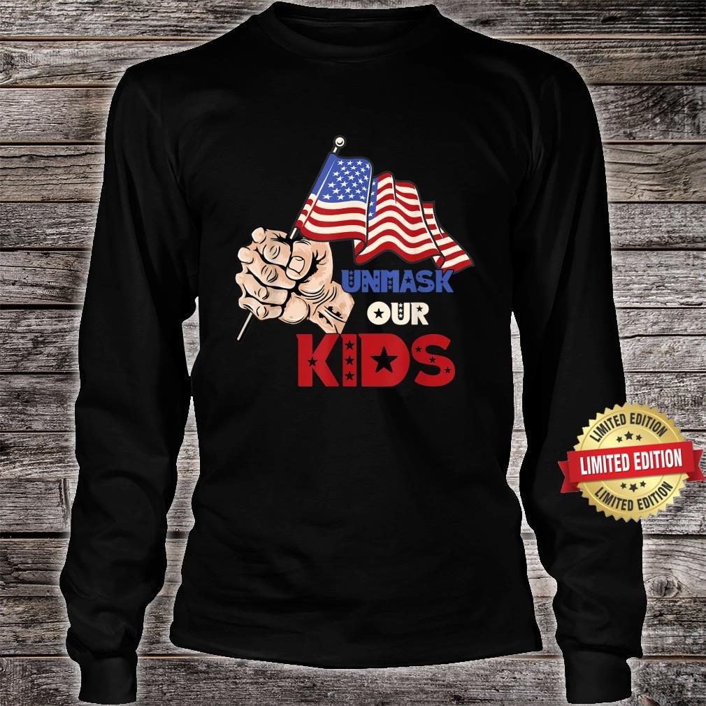 Unmask Our KID Protect Your Constitutional Rights USA Flag Shirt long sleeved
