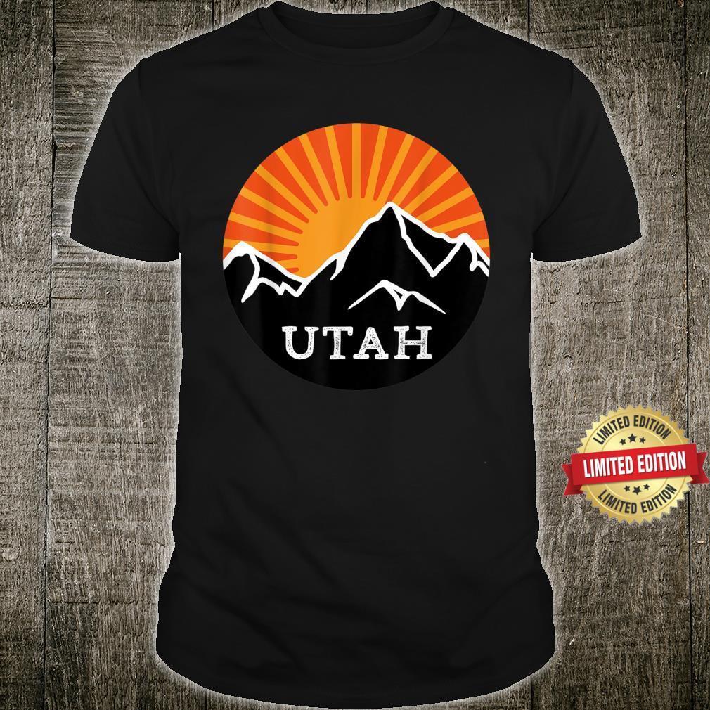 Utah Retro Sunset Mountains Vintage Sun Souvenir Memorabilia Shirt