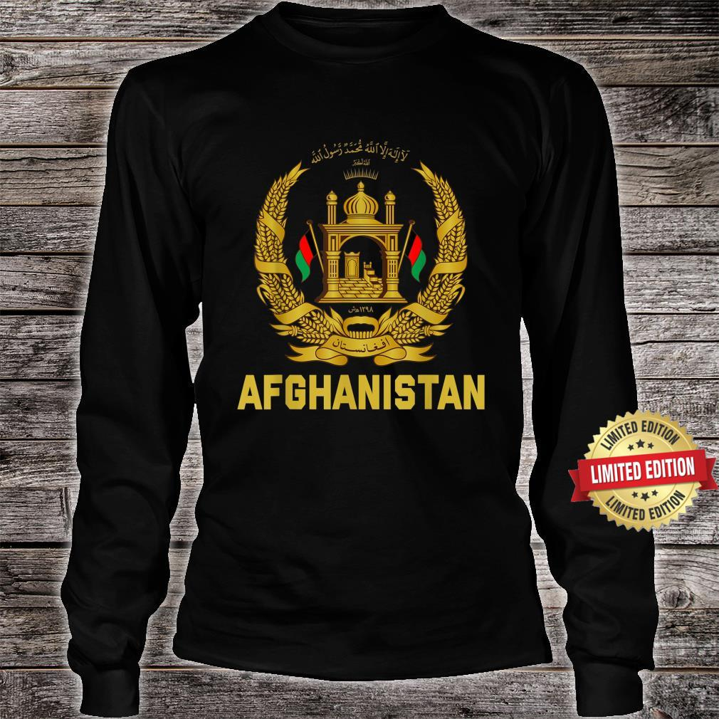 Vintage Afghanistan Afghan Flag United state Veteran Support Shirt long sleeved
