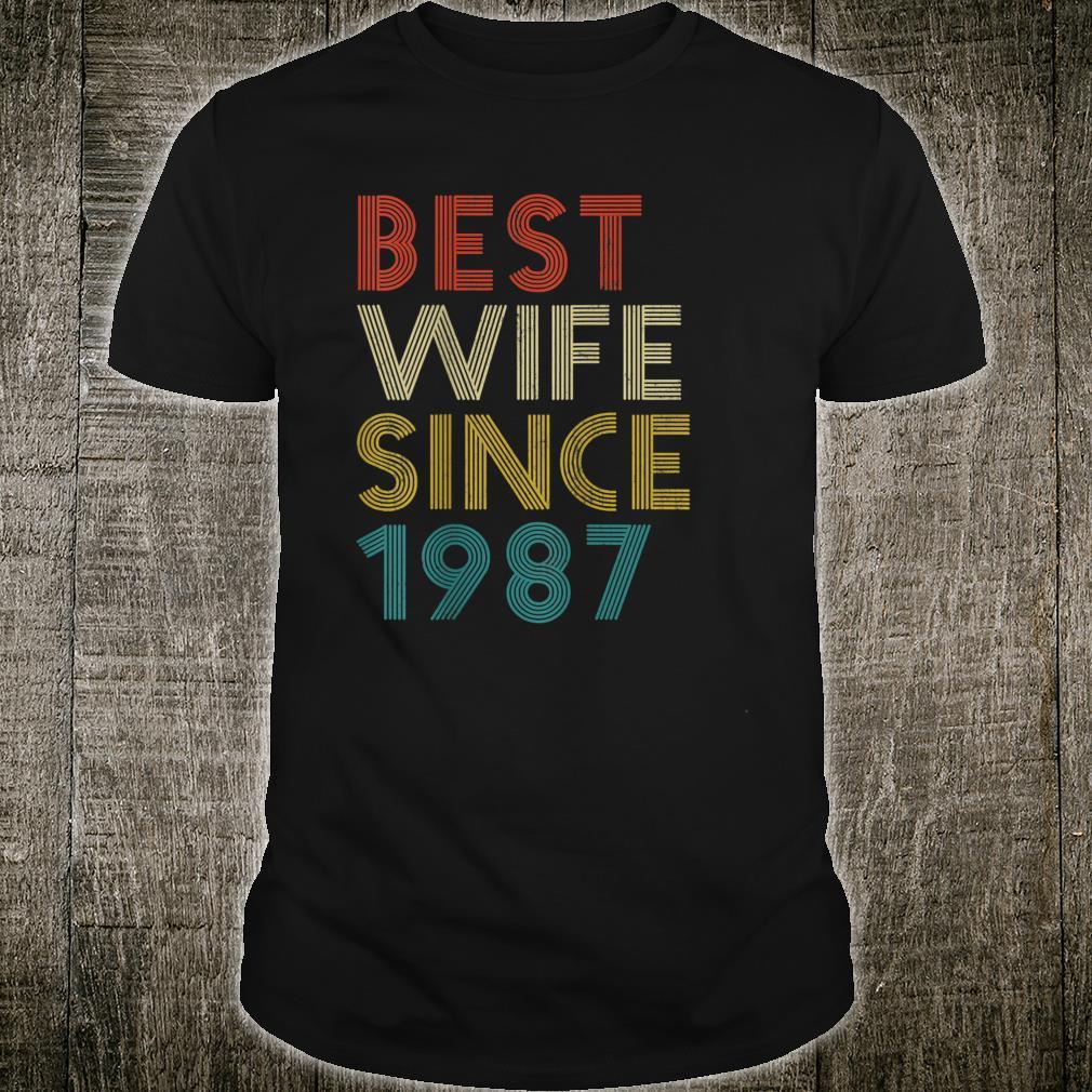 Vintage Best Wife Since 1987 Shirt
