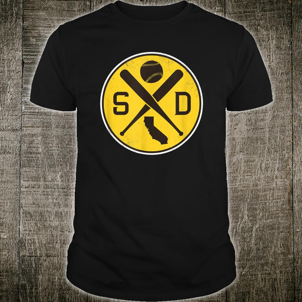 Vintage San Diego Baseball Bats SD Game Day Padre Shirt