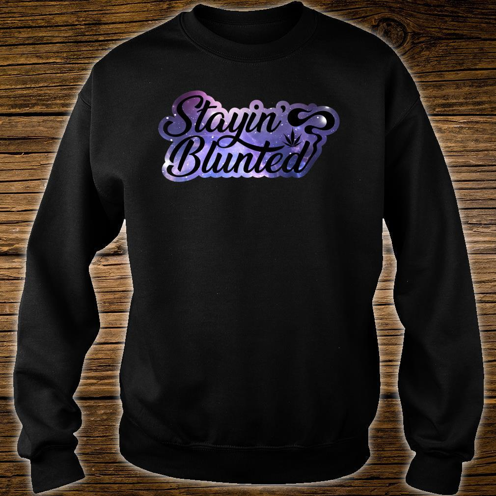 Weed Galaxy Staying Blunted Shirt sweater