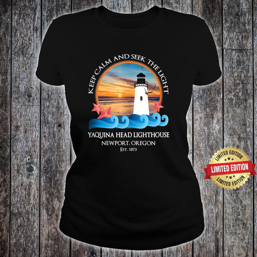 Yaquina Head Lighthouse Newport Oregon Coast Souvenir Shirt ladies tee