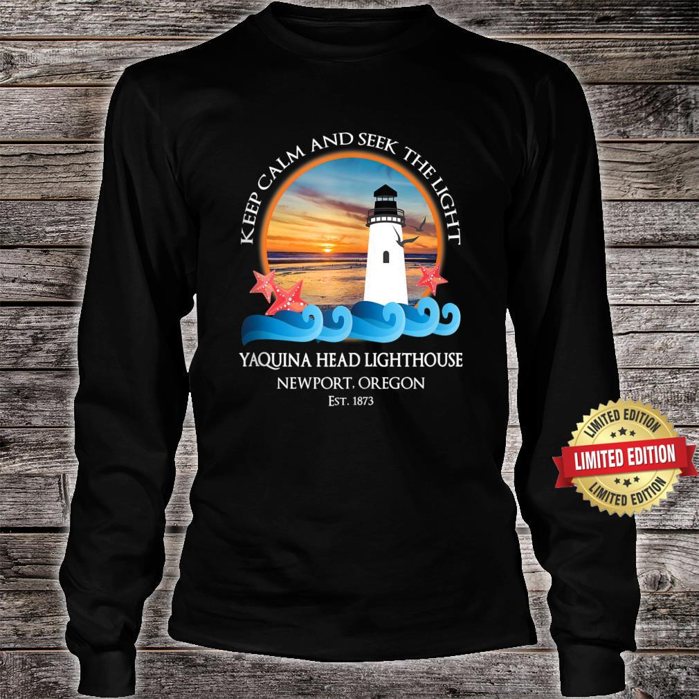 Yaquina Head Lighthouse Newport Oregon Coast Souvenir Shirt long sleeved