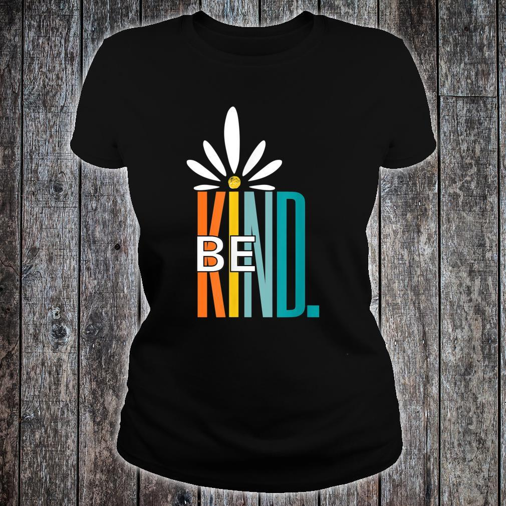 Be Kind White Daisy Inspirational Cute Blessed love Shirt ladies tee