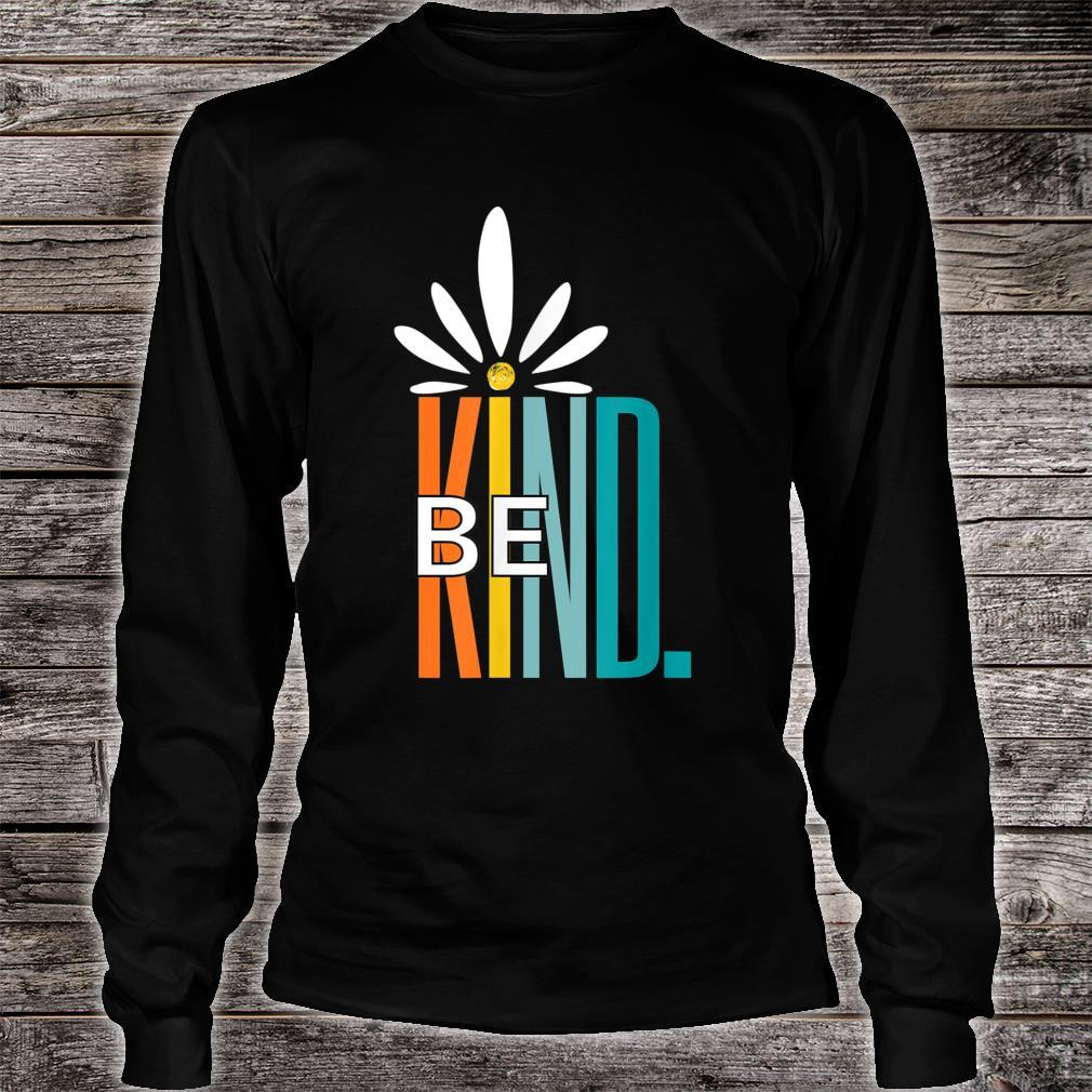 Be Kind White Daisy Inspirational Cute Blessed love Shirt long sleeved