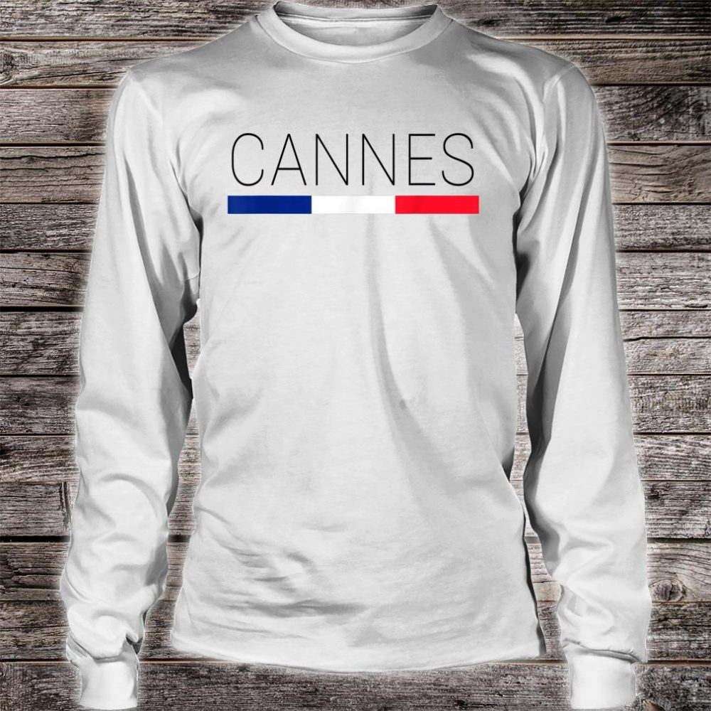 Cannes Cote d'Azur French Shirt long sleeved