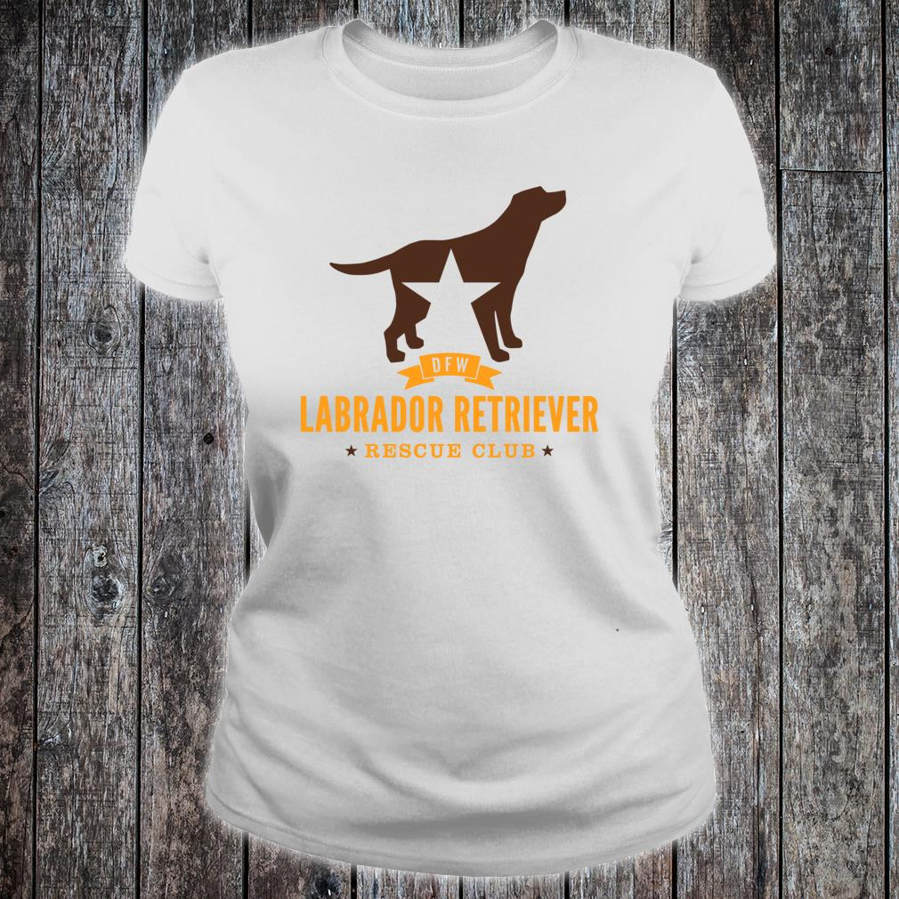 DFW Labrador Retriever Rescue Club Shirt ladies tee