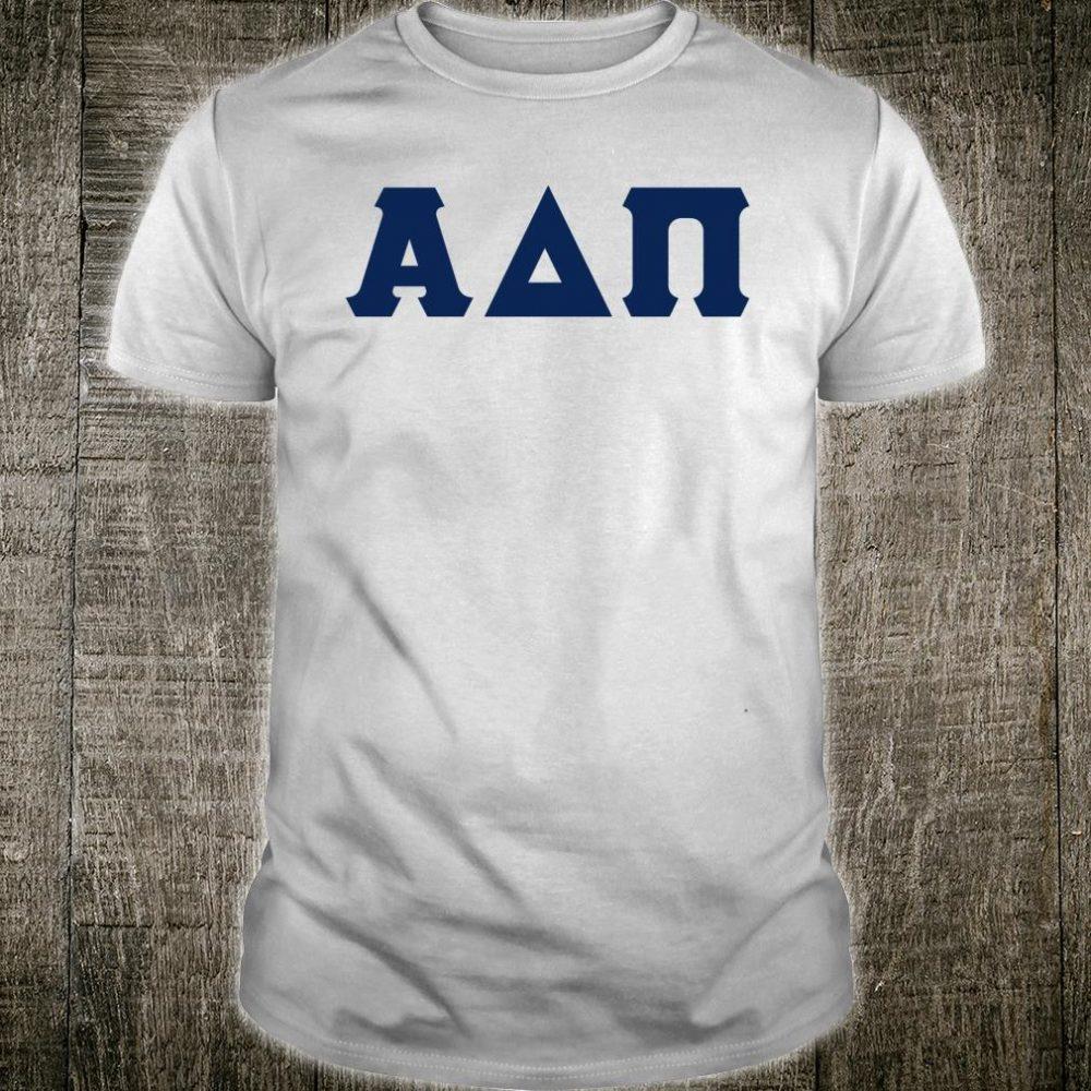 Greek letters Alpha, Delta, and Pi Shirt