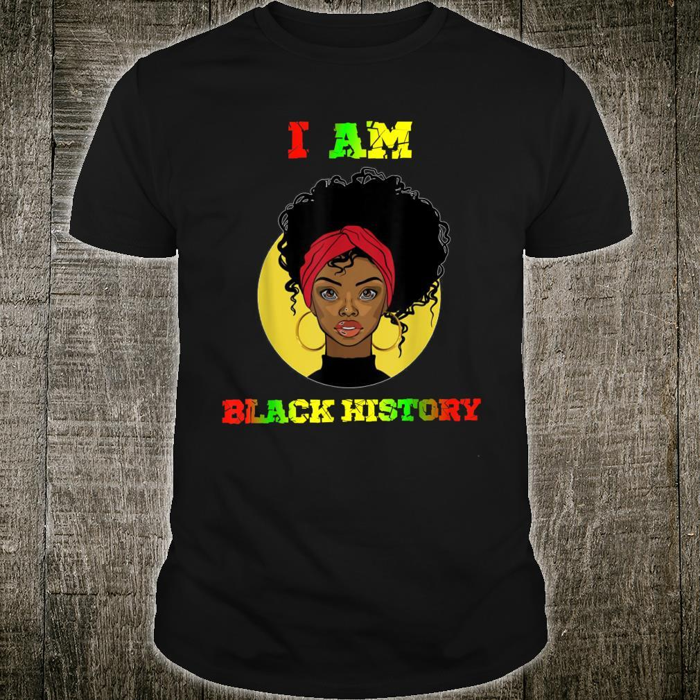 I Am The Strong African Queen Girls Black History Month Shirt