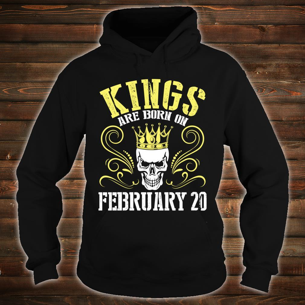 Kings Are Born On February 20 Happy Birthday Me Papa Dad Son Shirt hoodie