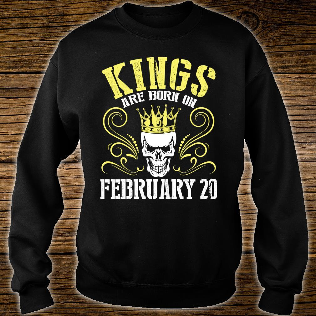 Kings Are Born On February 20 Happy Birthday Me Papa Dad Son Shirt sweater