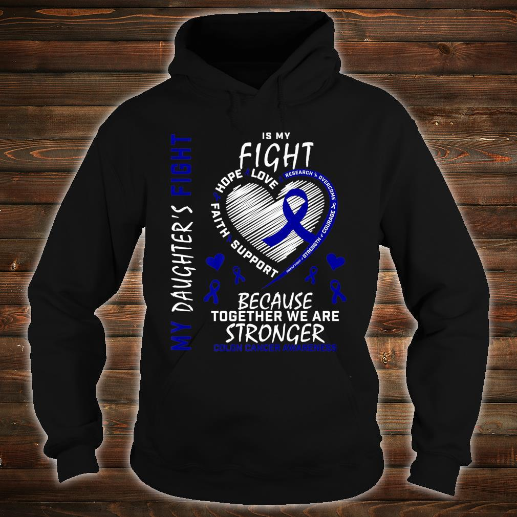 Mom Dad Blue Ribbon Daughter Fighter Colon Cancer Awareness Shirt hoodie