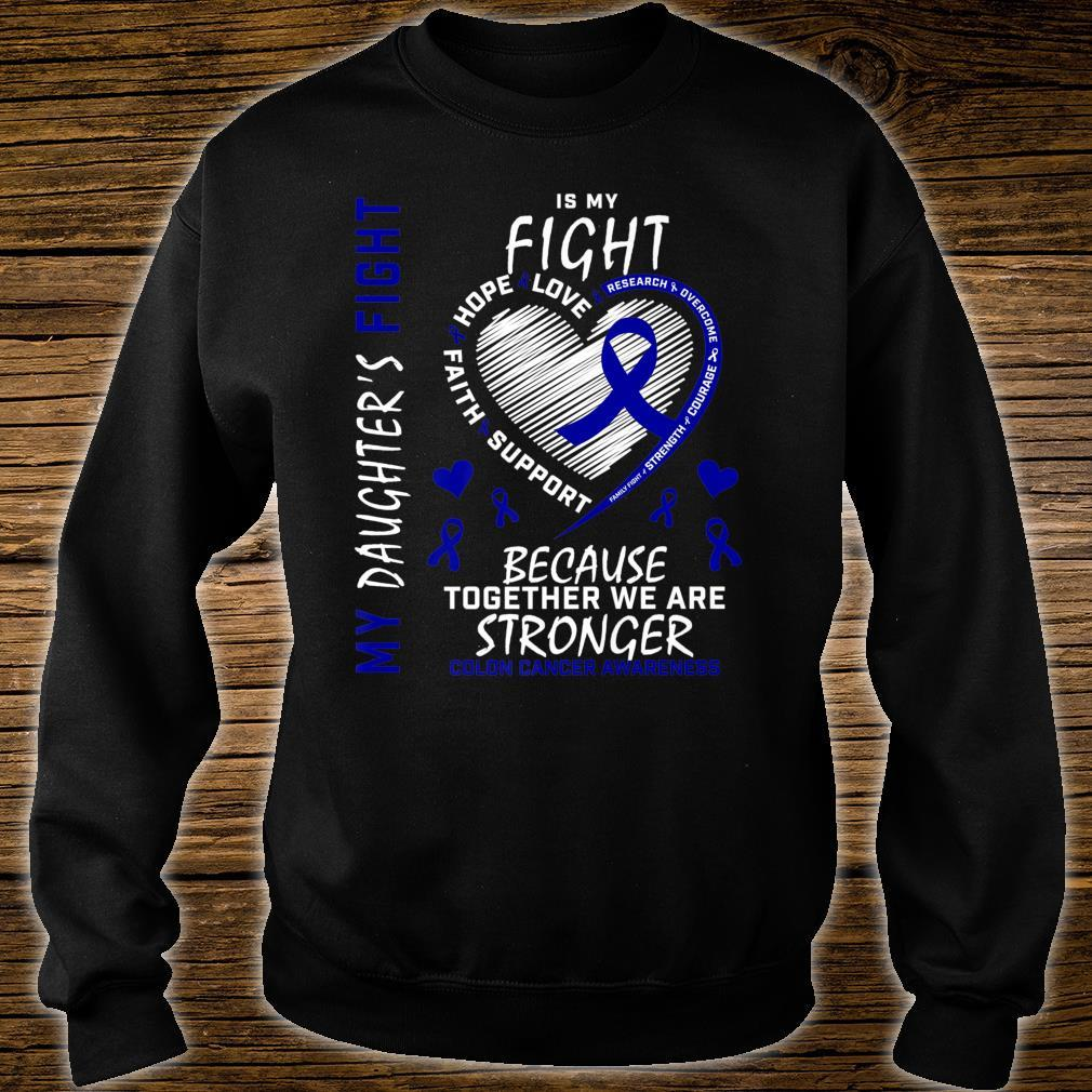 Mom Dad Blue Ribbon Daughter Fighter Colon Cancer Awareness Shirt sweater