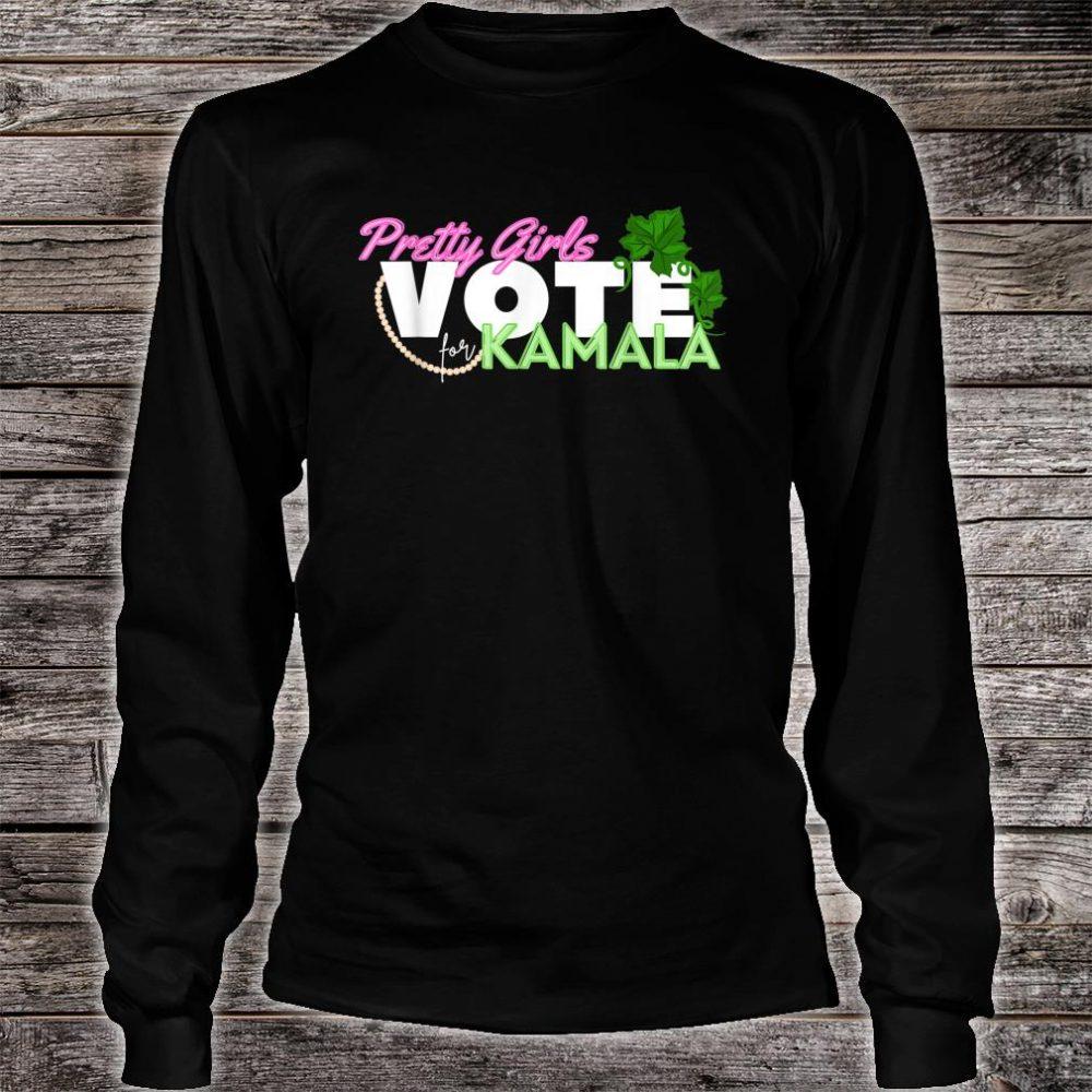 Pretty Girls Vote for Kamala Harris SororityVice President Shirt long sleeved