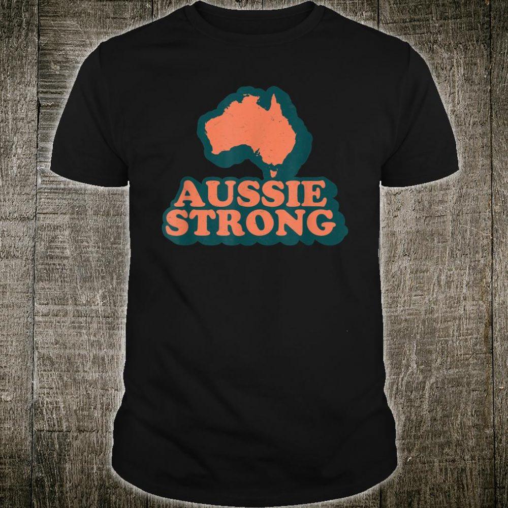 Retro Aussie Strong Support Australia Shirt