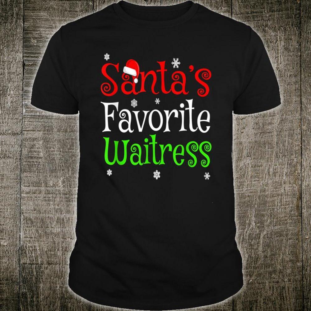 Santa's Favorite Waitress Shirt