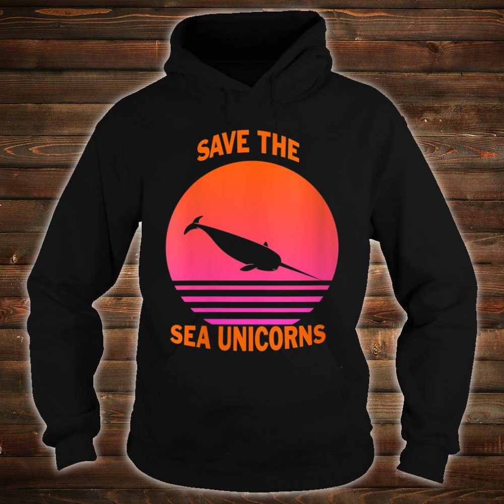 Save The Sea Unicorns Shirt hoodie