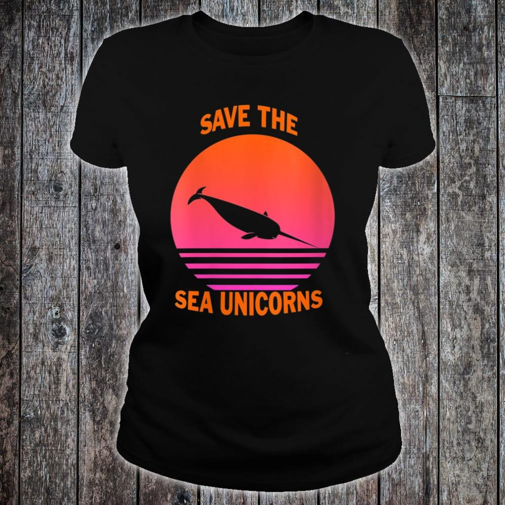Save The Sea Unicorns Shirt ladies tee