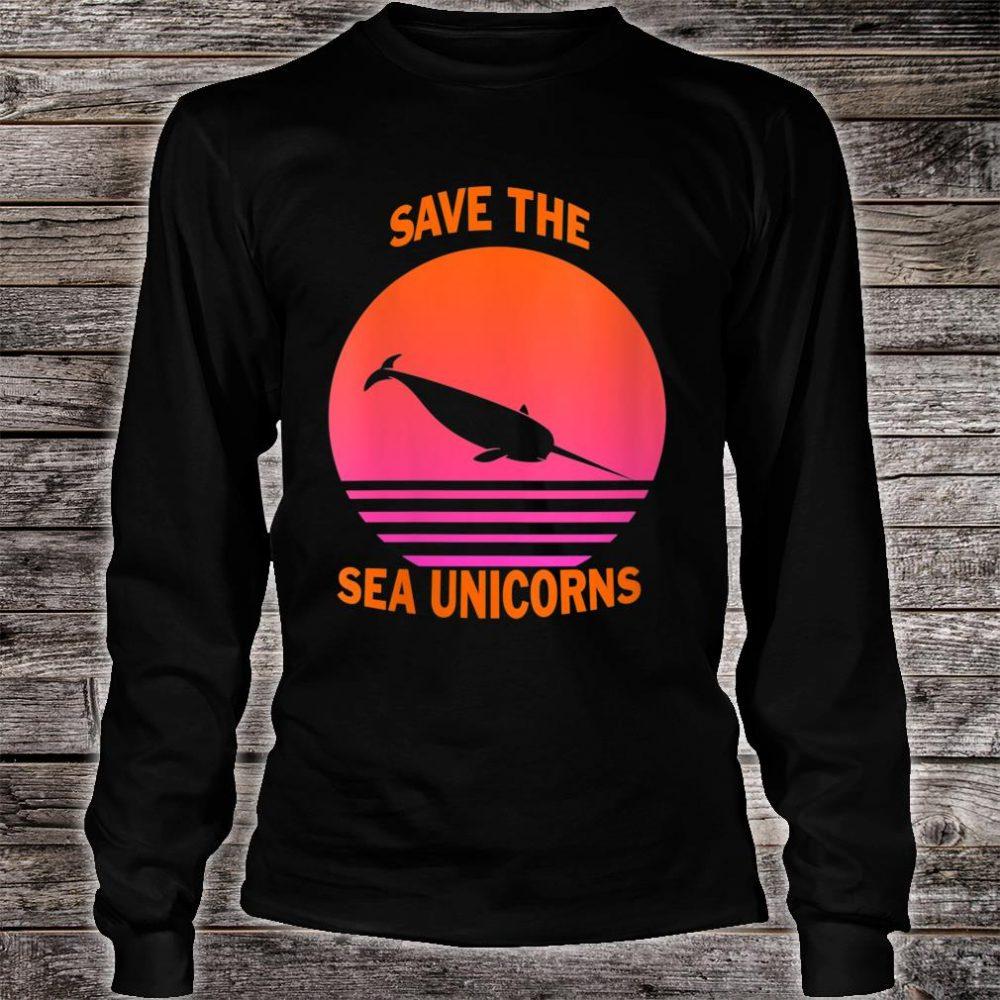 Save The Sea Unicorns Shirt long sleeved