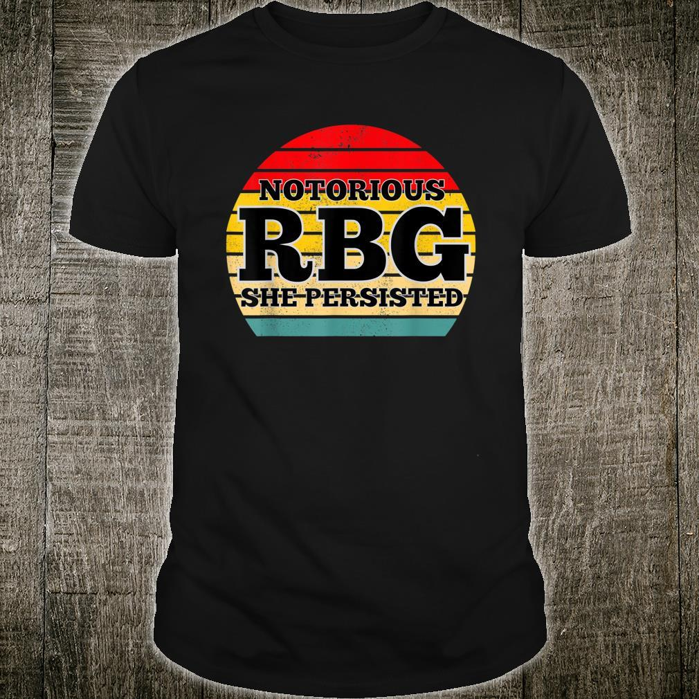 She Persisted RBG Ruth Bader Ginsburg Girl Power Retro Shirt