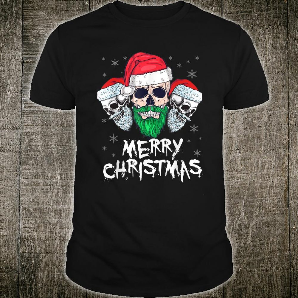 Skull Santa Christmas Shirt