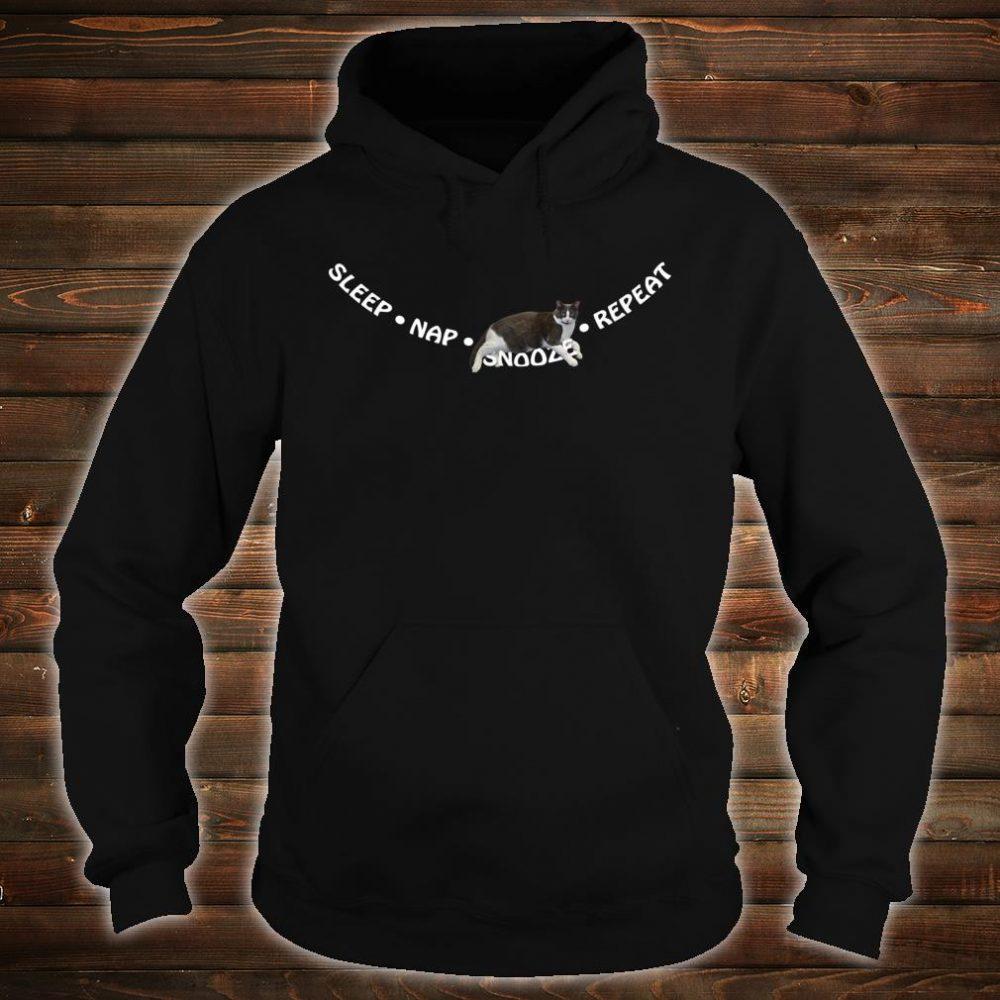 Sleep, Nap, Snooze, Repeat Cat Sleep Shirt hoodie
