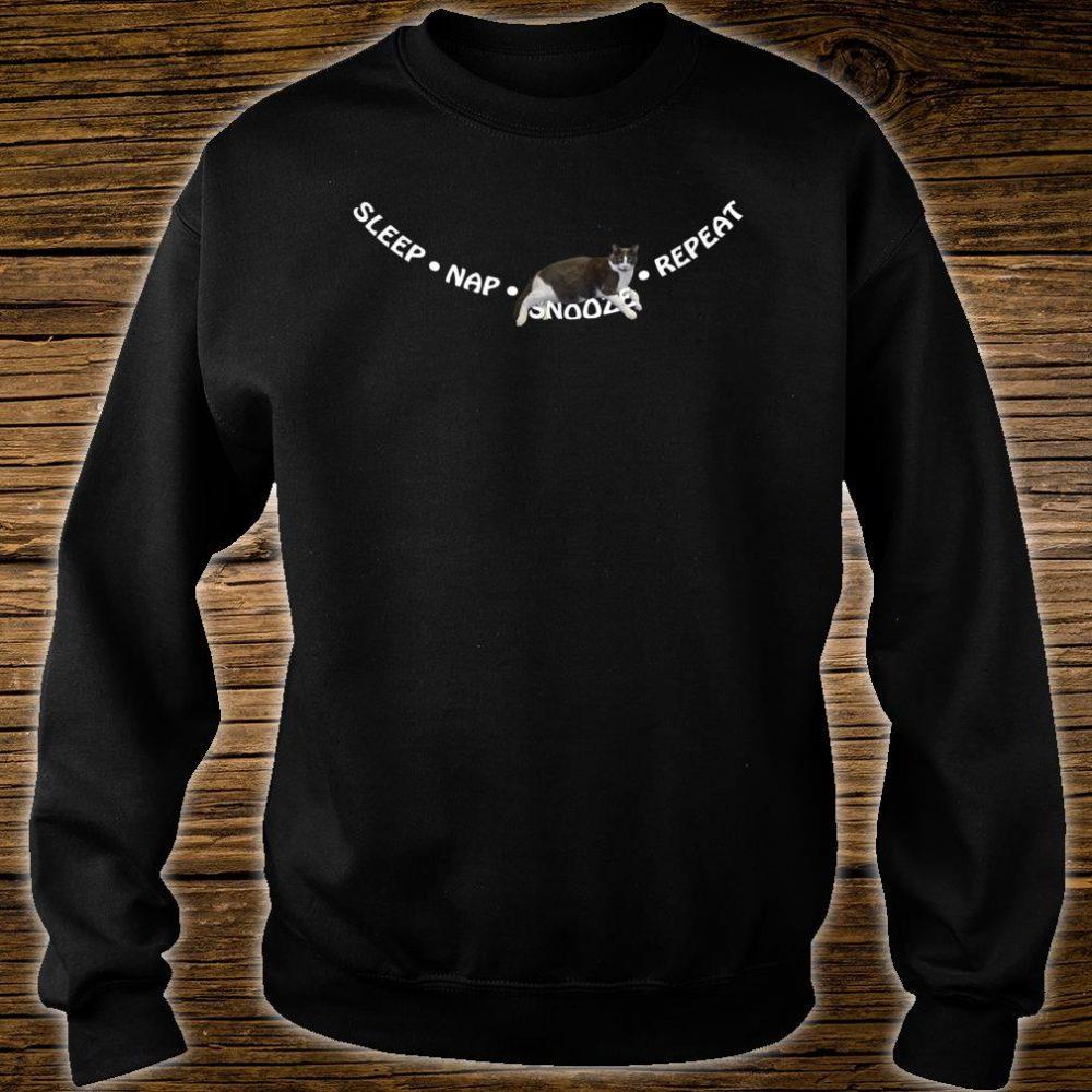 Sleep, Nap, Snooze, Repeat Cat Sleep Shirt sweater